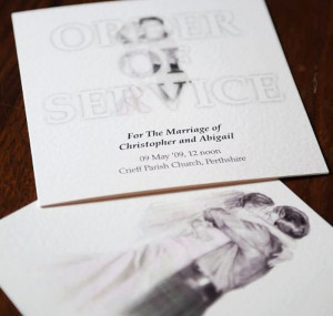 Wedding Order of Service design.