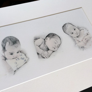 Individual drawings within the one frame make a lovely gift.